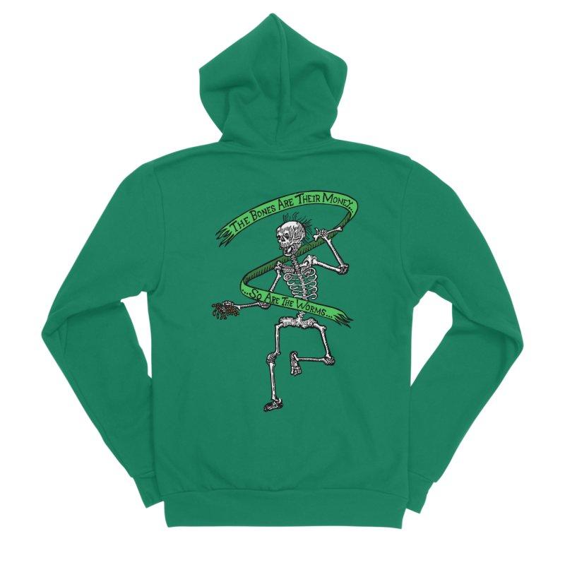 The Night the Skeletons Came to Life Women's Sponge Fleece Zip-Up Hoody by The Corey Press