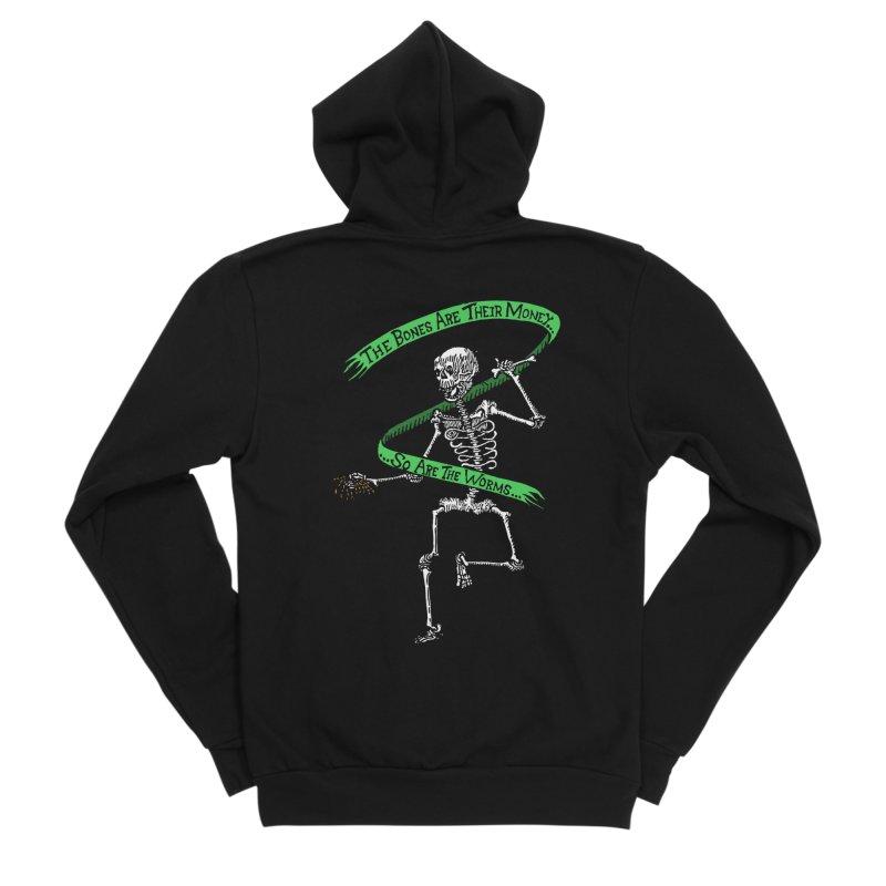 The Night the Skeletons Came to Life Men's Sponge Fleece Zip-Up Hoody by The Corey Press