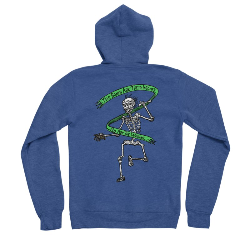 The Night the Skeletons Came to Life Men's Sponge Fleece Zip-Up Hoody by The Corey Press