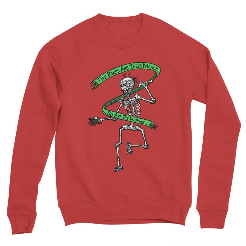 The Night the Skeletons Came to Life Men's Sponge Fleece Sweatshirt by The Corey Press