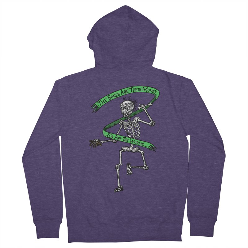 The Night the Skeletons Came to Life Men's French Terry Zip-Up Hoody by The Corey Press