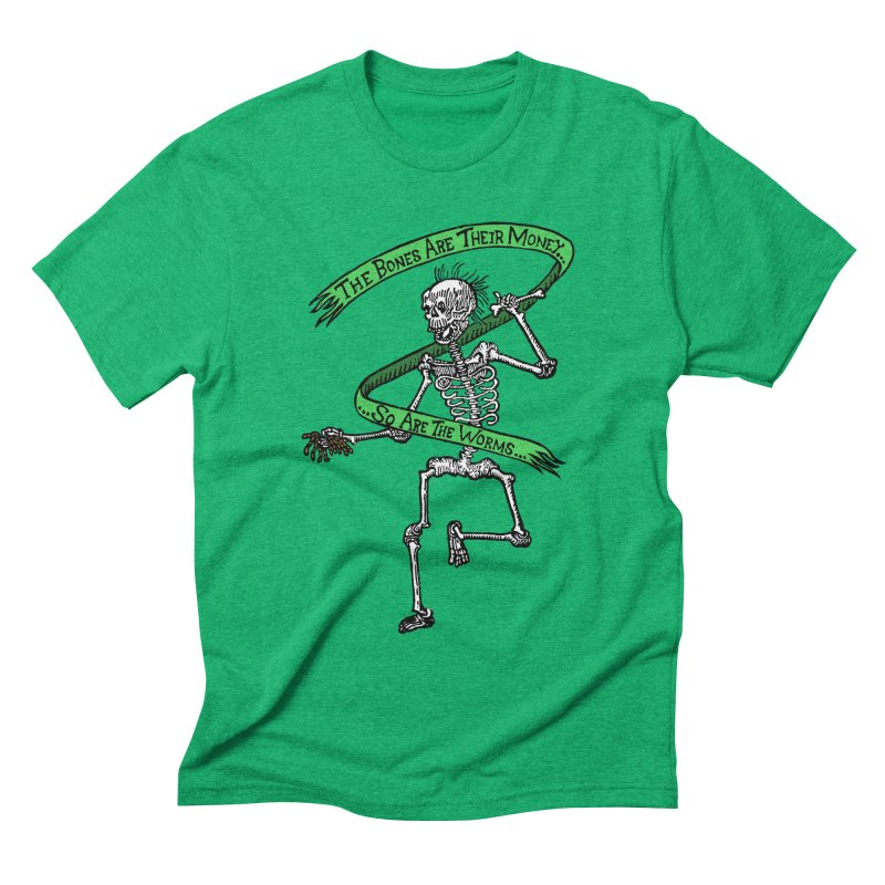 The Night the Skeletons Came to Life Men's Triblend T-Shirt by The Corey Press