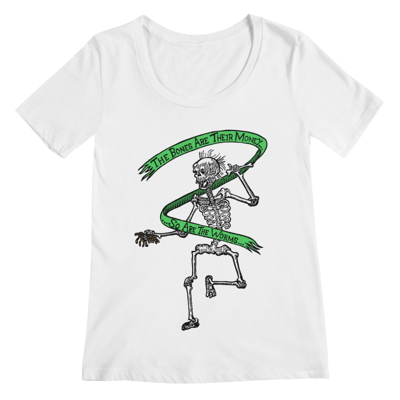 The Night the Skeletons Came to Life Women's Regular Scoop Neck by The Corey Press