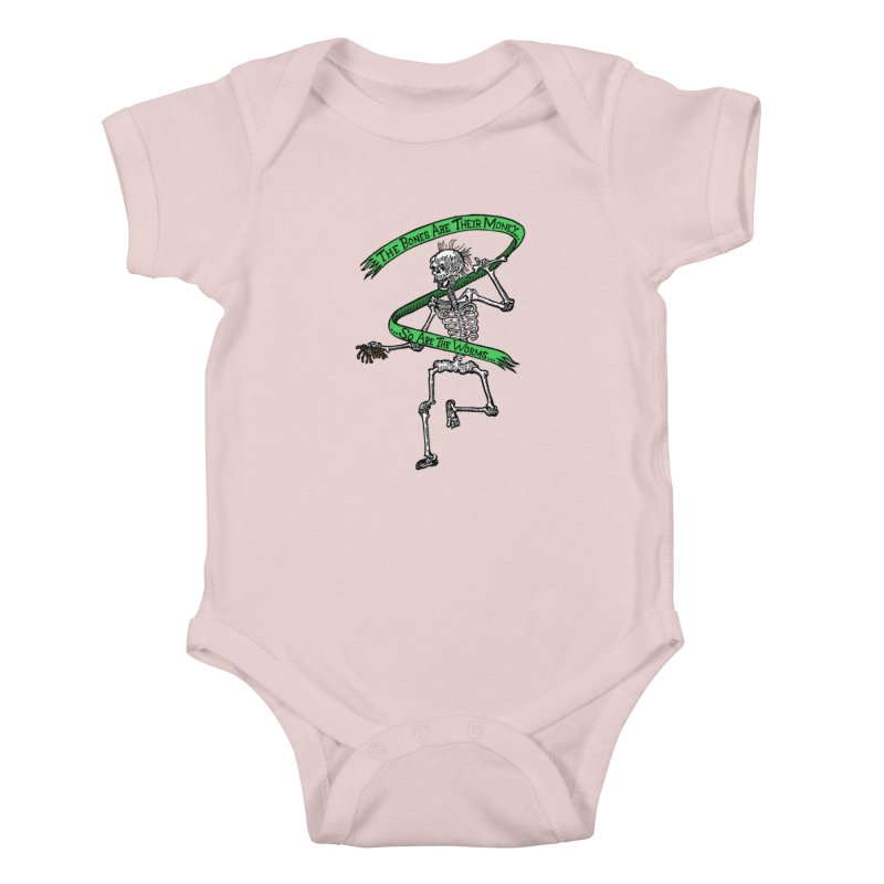The Night the Skeletons Came to Life Kids Baby Bodysuit by The Corey Press