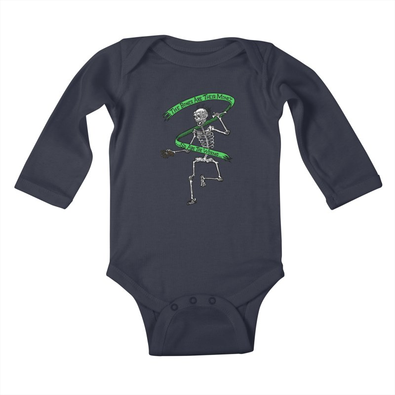 The Night the Skeletons Came to Life Kids Baby Longsleeve Bodysuit by The Corey Press