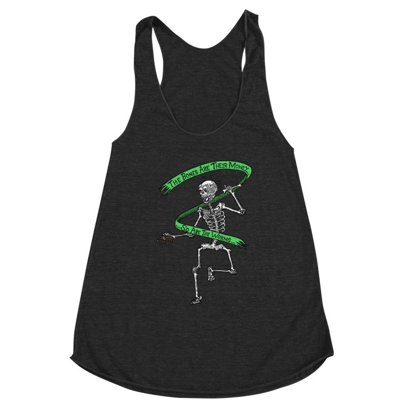 The Night the Skeletons Came to Life Women's Racerback Triblend Tank by The Corey Press