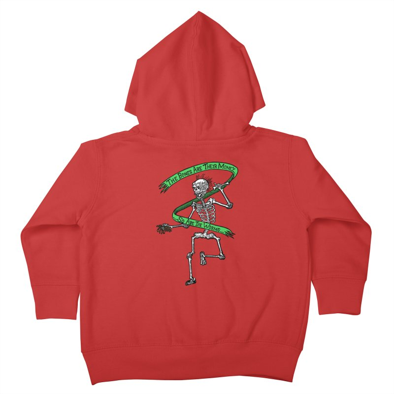 The Night the Skeletons Came to Life Kids Toddler Zip-Up Hoody by The Corey Press