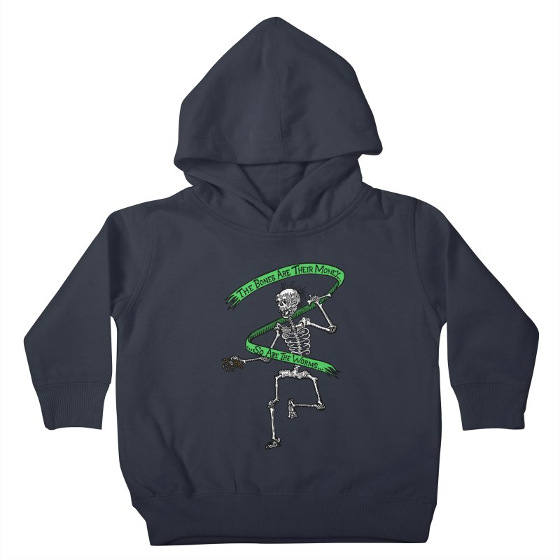 The Night the Skeletons Came to Life Kids Toddler Pullover Hoody by The Corey Press