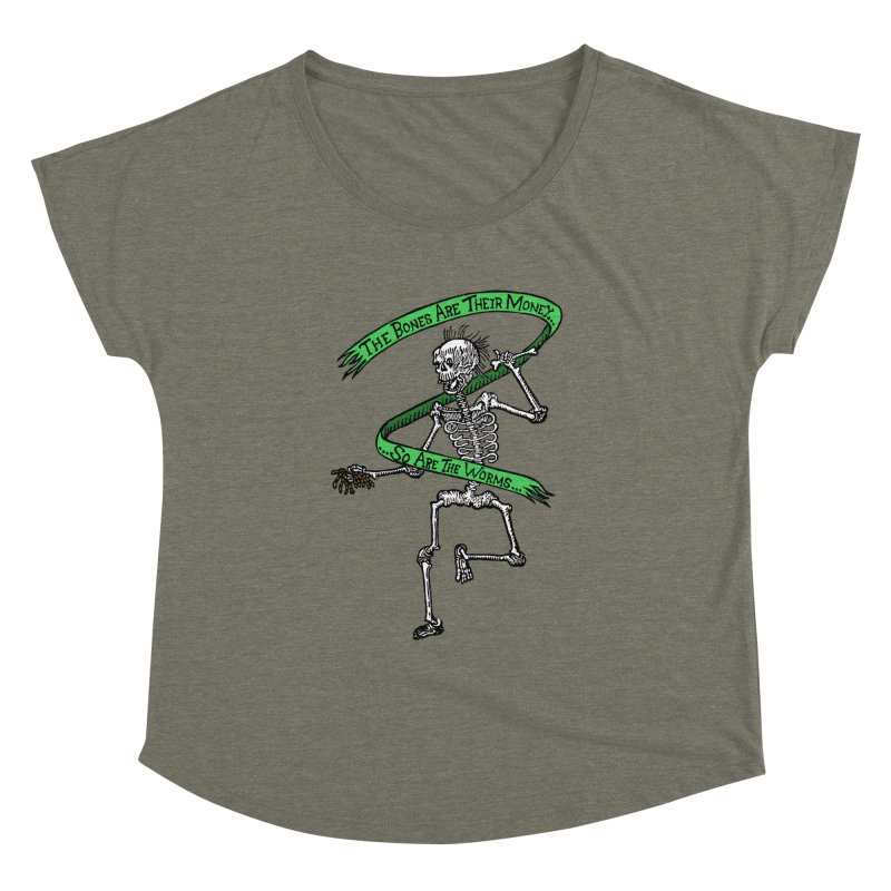 The Night the Skeletons Came to Life Women's Dolman Scoop Neck by The Corey Press