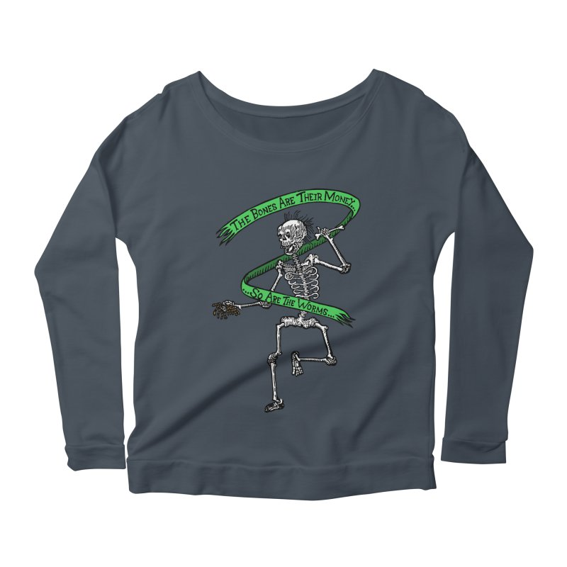 The Night the Skeletons Came to Life Women's Scoop Neck Longsleeve T-Shirt by The Corey Press