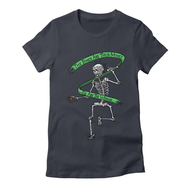 The Night the Skeletons Came to Life Women's Fitted T-Shirt by The Corey Press
