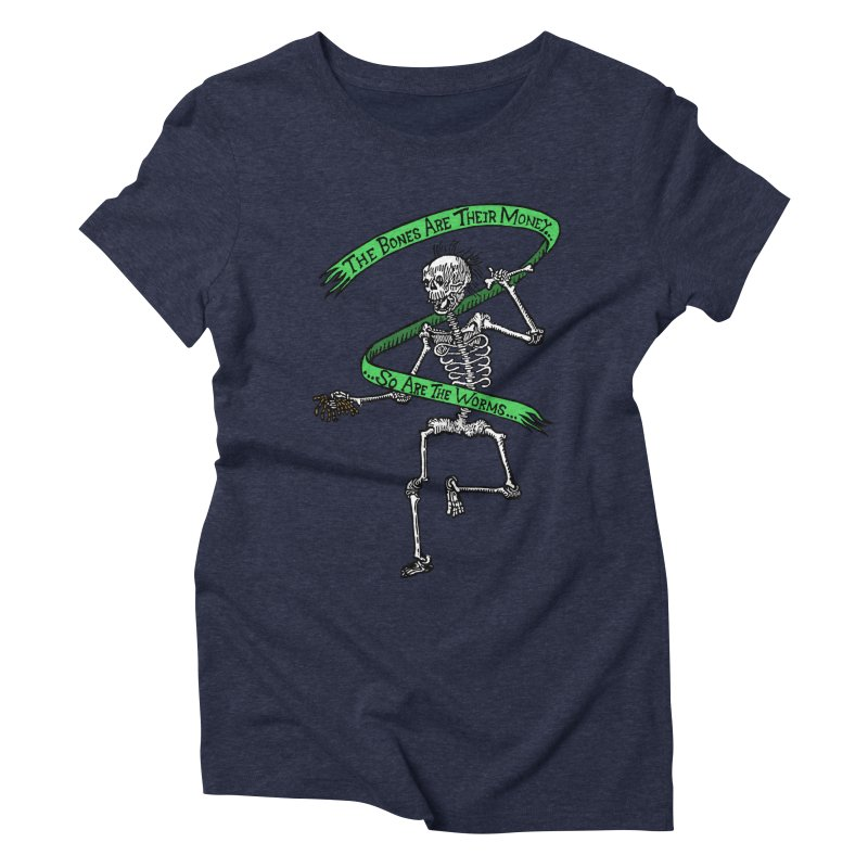 The Night the Skeletons Came to Life Women's Triblend T-Shirt by The Corey Press