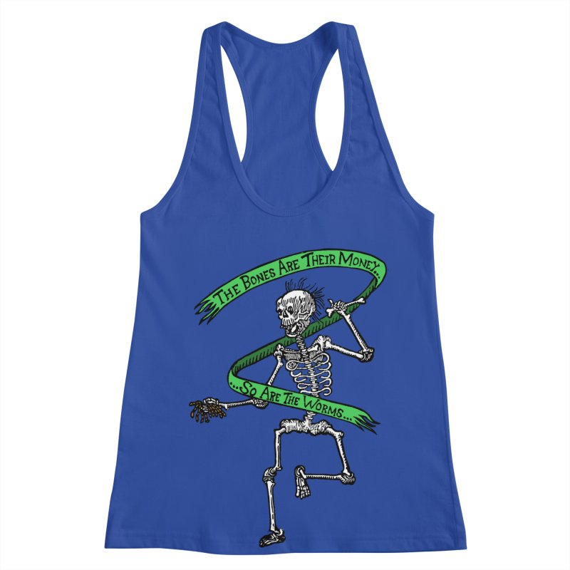 The Night the Skeletons Came to Life Women's Racerback Tank by The Corey Press