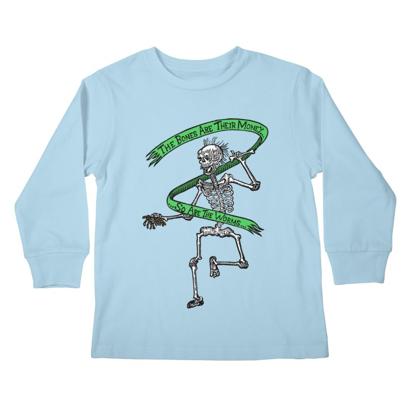 The Night the Skeletons Came to Life Kids Longsleeve T-Shirt by The Corey Press