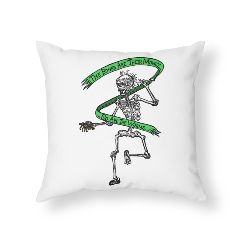 The Night the Skeletons Came to Life Home Throw Pillow by The Corey Press