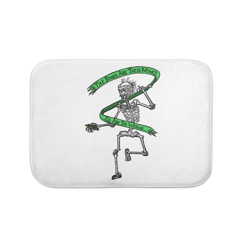 The Night the Skeletons Came to Life Home Bath Mat by The Corey Press