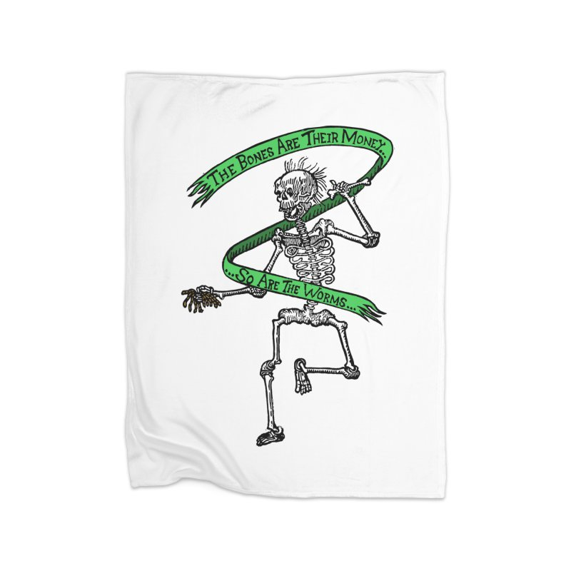 The Night the Skeletons Came to Life Home Fleece Blanket Blanket by The Corey Press
