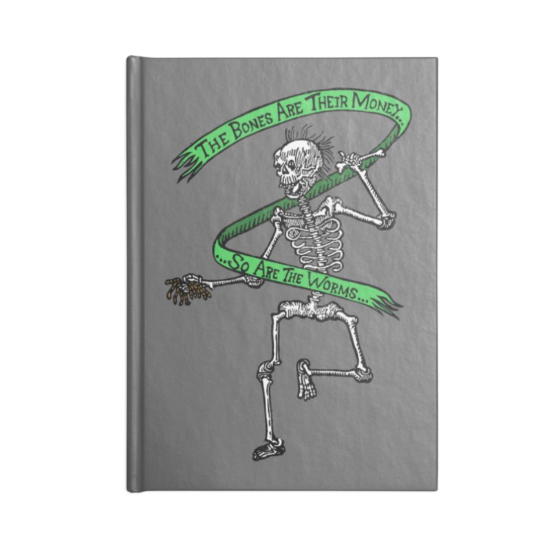 The Night the Skeletons Came to Life Accessories Lined Journal Notebook by The Corey Press