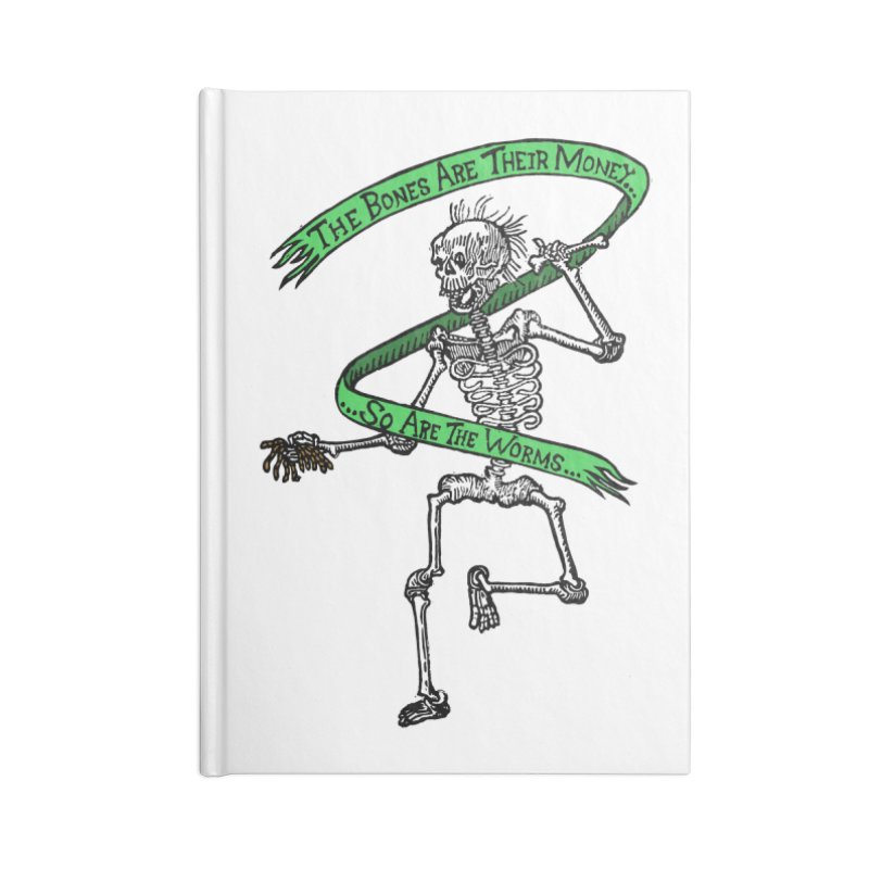 The Night the Skeletons Came to Life Accessories Blank Journal Notebook by The Corey Press