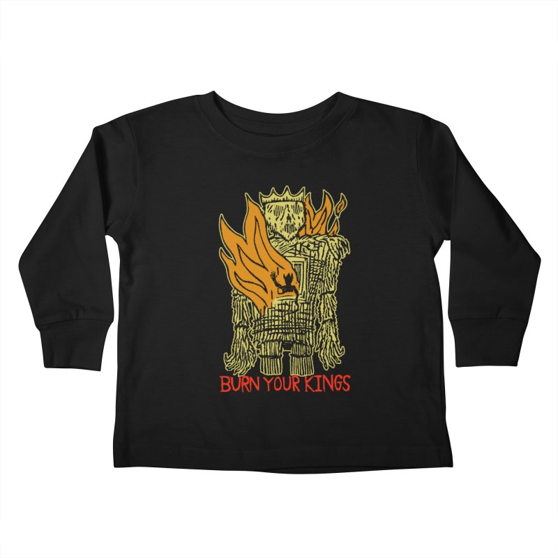Burn Your Kings Kids Toddler Longsleeve T-Shirt by The Corey Press