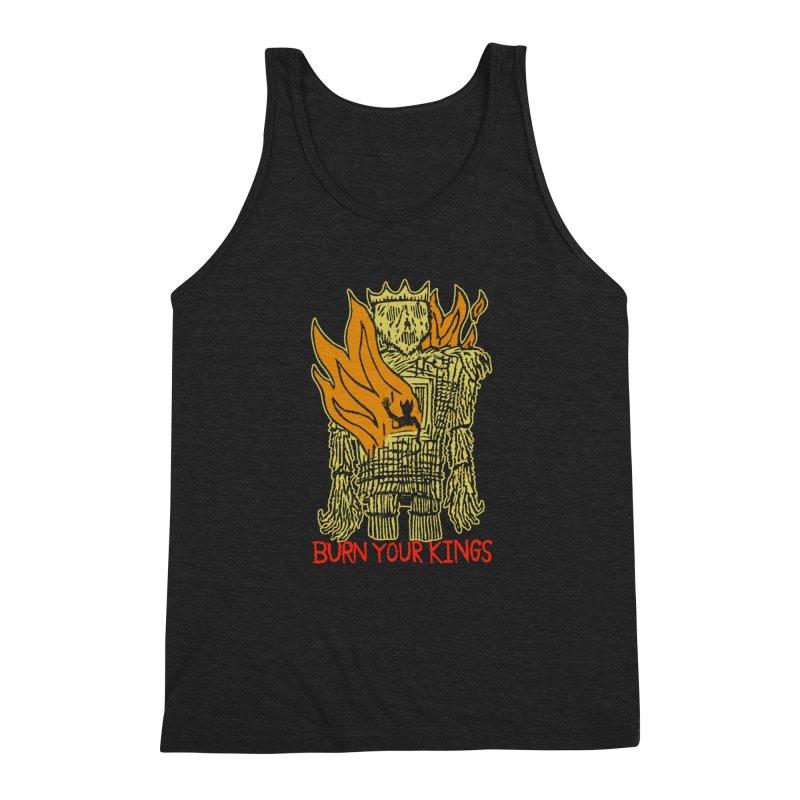 Burn Your Kings Men's Triblend Tank by The Corey Press