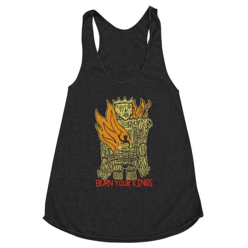 Burn Your Kings Women's Racerback Triblend Tank by The Corey Press
