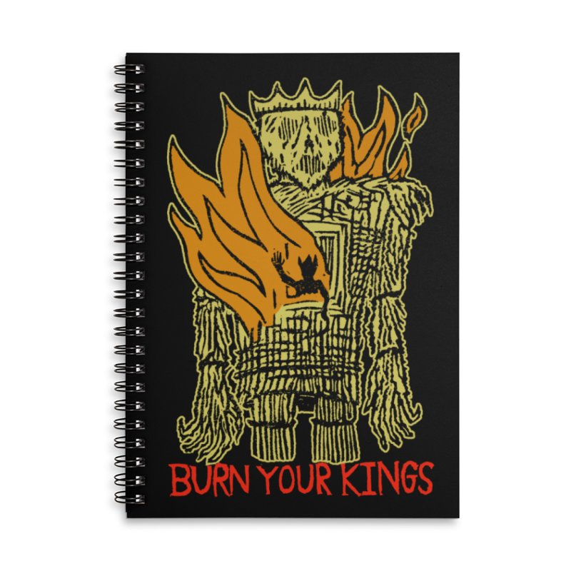 Burn Your Kings Accessories Lined Spiral Notebook by The Corey Press