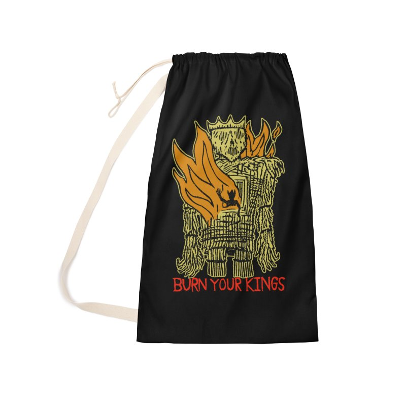 Burn Your Kings Accessories Laundry Bag Bag by The Corey Press