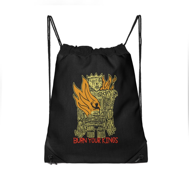 Burn Your Kings Accessories Drawstring Bag Bag by The Corey Press
