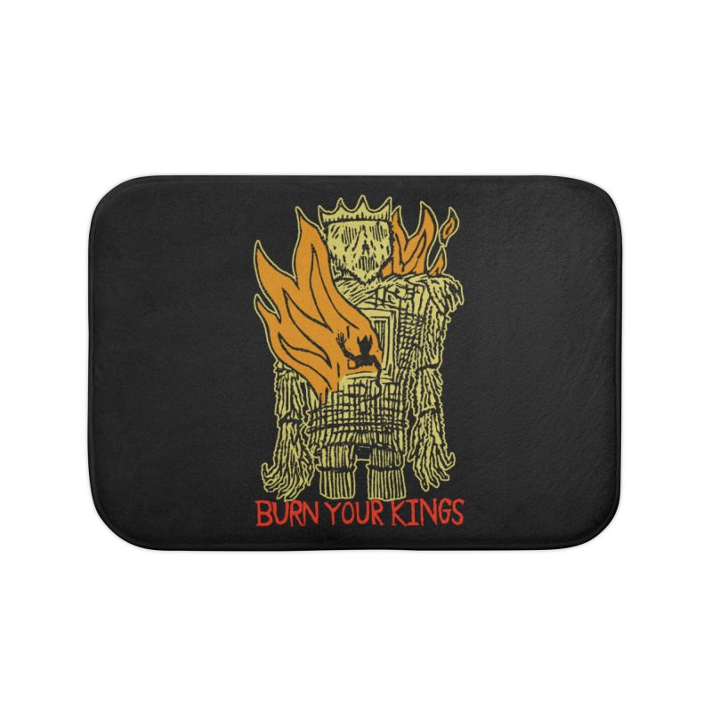 Burn Your Kings Home Bath Mat by The Corey Press