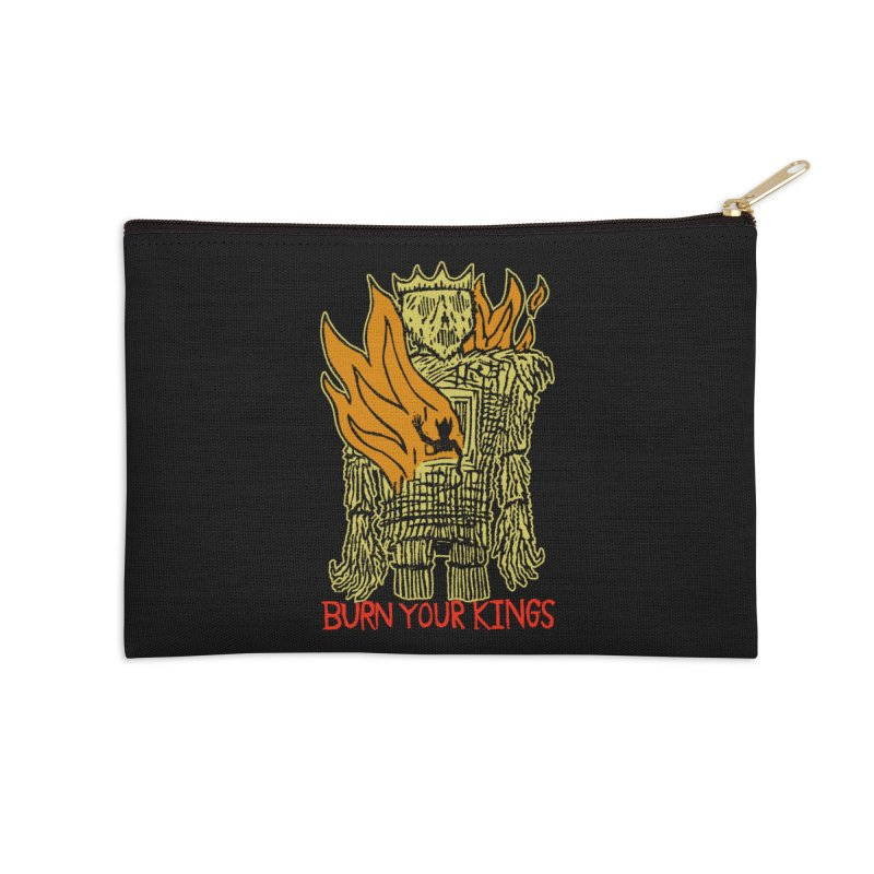 Burn Your Kings Accessories Zip Pouch by The Corey Press