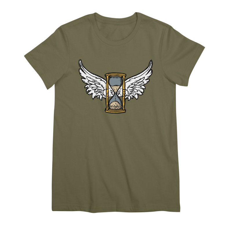 Tempus Fugit Women's Premium T-Shirt by The Corey Press