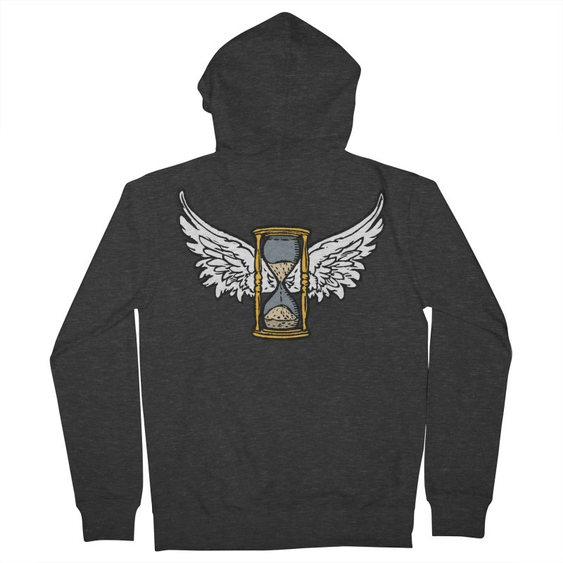 Tempus Fugit Men's French Terry Zip-Up Hoody by The Corey Press
