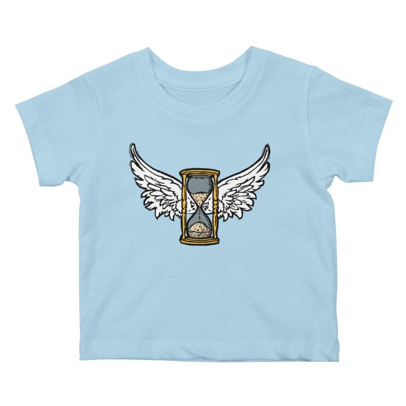 Tempus Fugit Kids Baby T-Shirt by The Corey Press