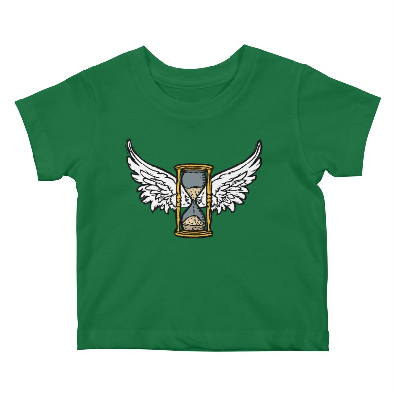 Tempus Fugit Kids Baby T-Shirt by The Corey Press