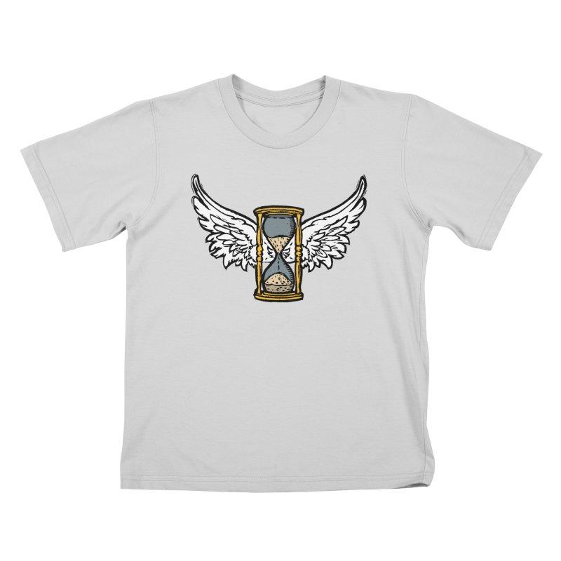 Tempus Fugit Kids T-Shirt by The Corey Press
