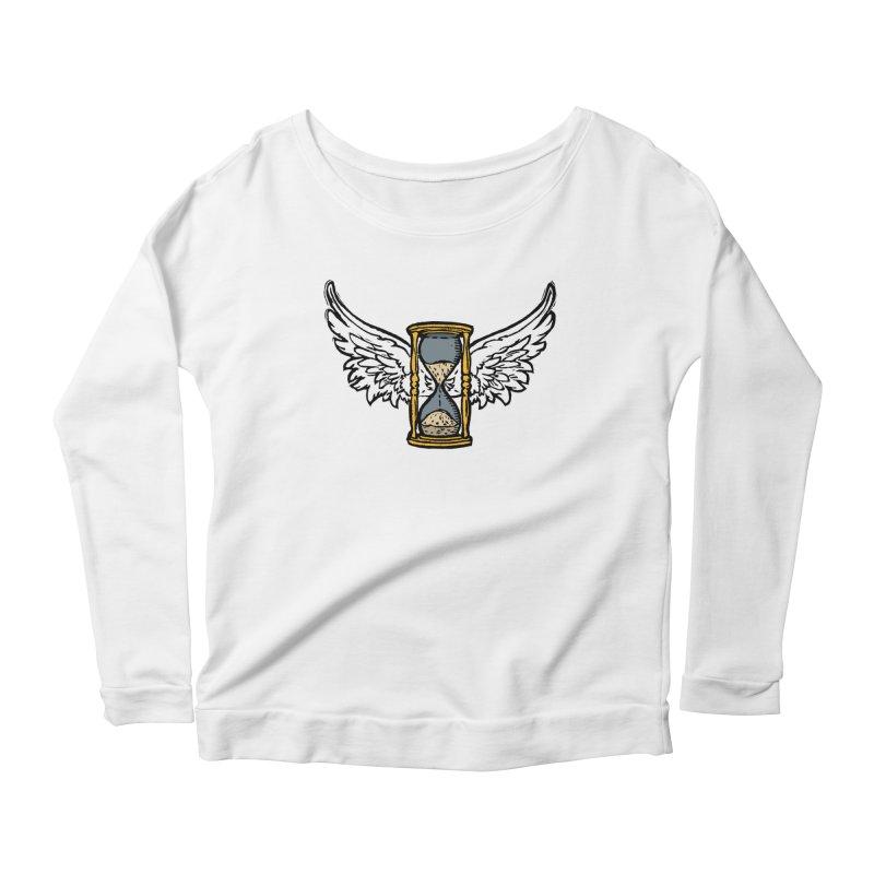 Tempus Fugit Women's Scoop Neck Longsleeve T-Shirt by The Corey Press