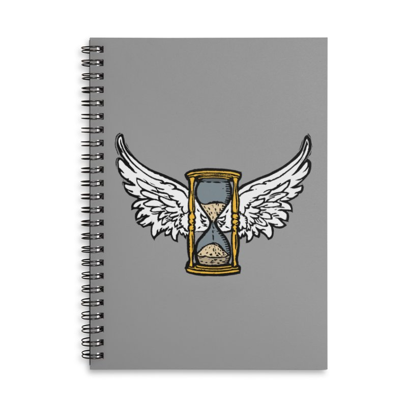 Tempus Fugit Accessories Lined Spiral Notebook by The Corey Press