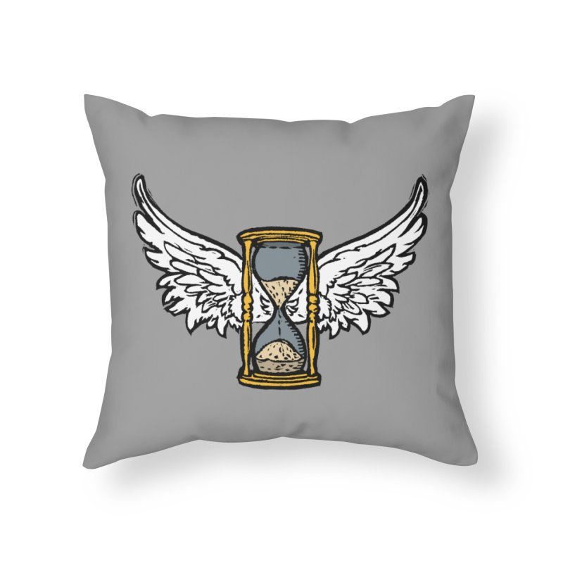 Tempus Fugit Home Throw Pillow by The Corey Press