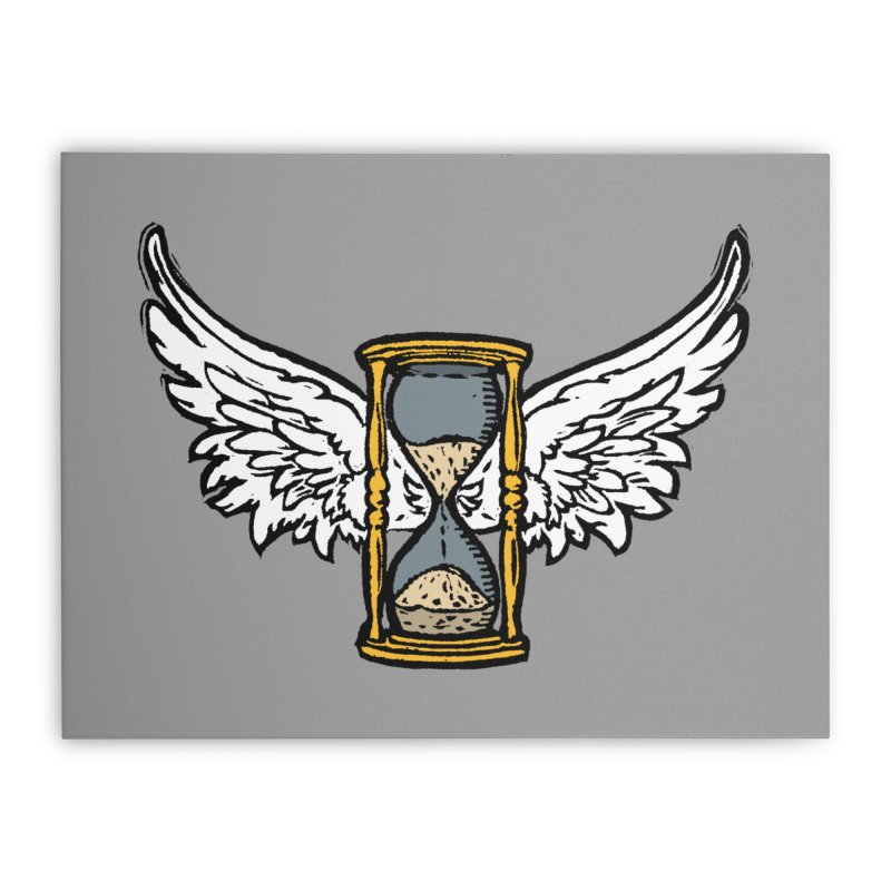 Tempus Fugit Home Stretched Canvas by The Corey Press