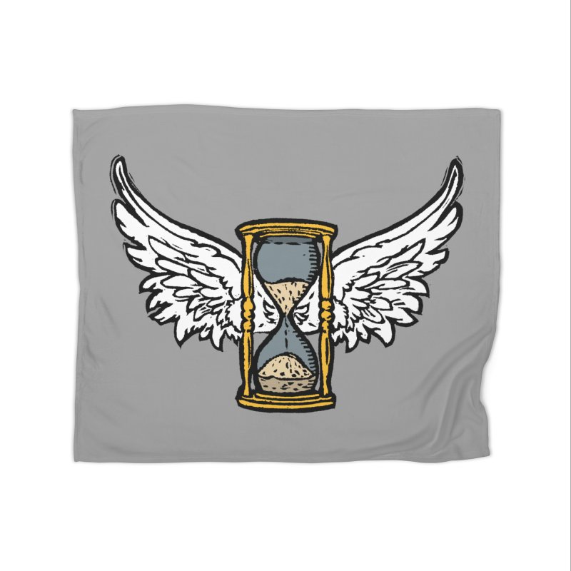 Tempus Fugit Home Fleece Blanket Blanket by The Corey Press