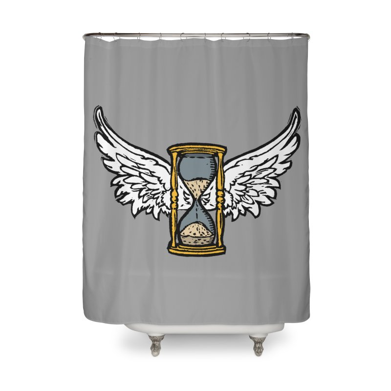 Tempus Fugit Home Shower Curtain by The Corey Press