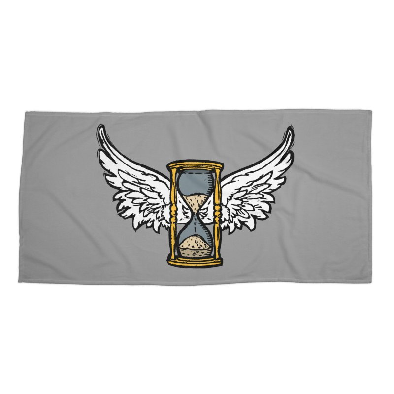 Tempus Fugit Accessories Beach Towel by The Corey Press