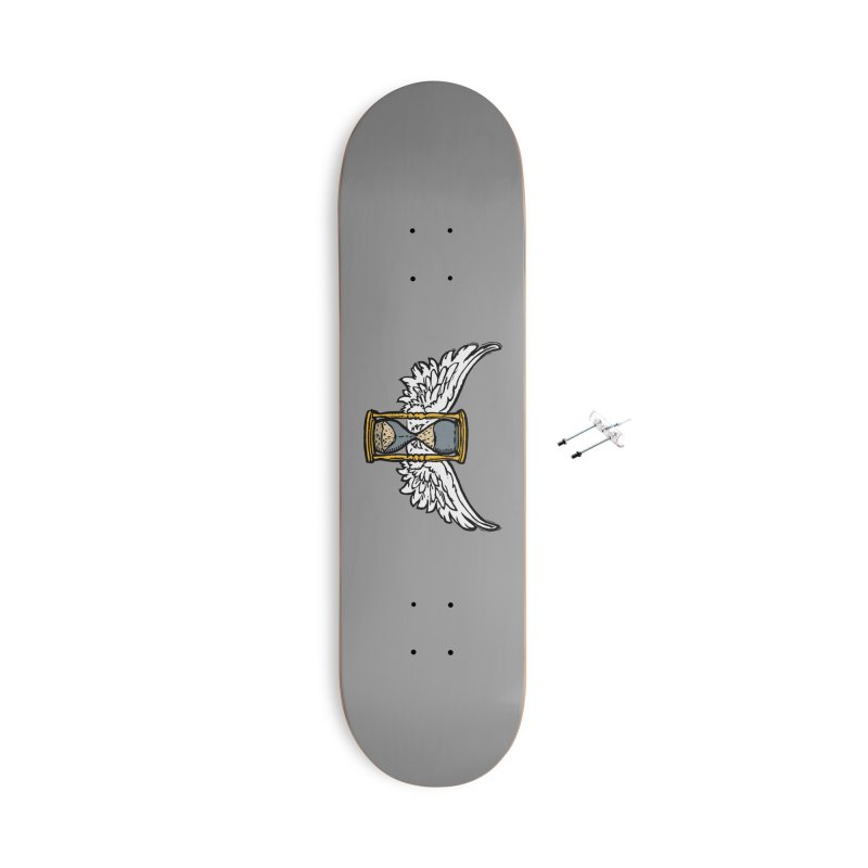 Tempus Fugit Accessories With Hanging Hardware Skateboard by The Corey Press