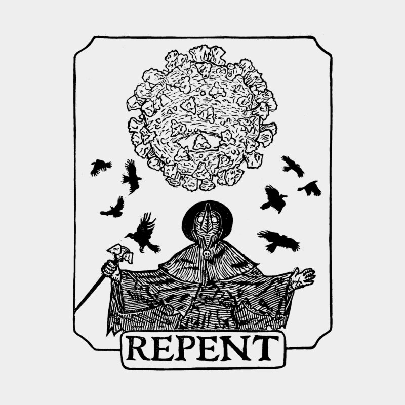 Repent Home Stretched Canvas by The Corey Press