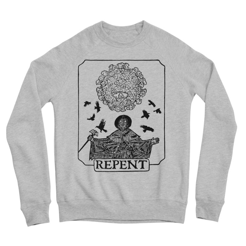 Repent Women's Sponge Fleece Sweatshirt by The Corey Press