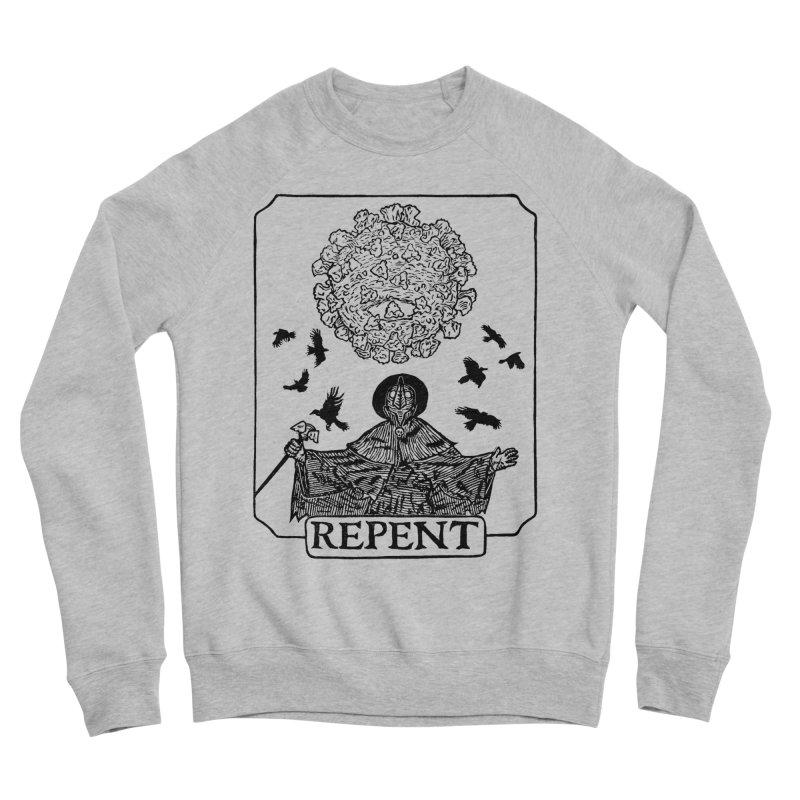 Repent Men's Sponge Fleece Sweatshirt by The Corey Press