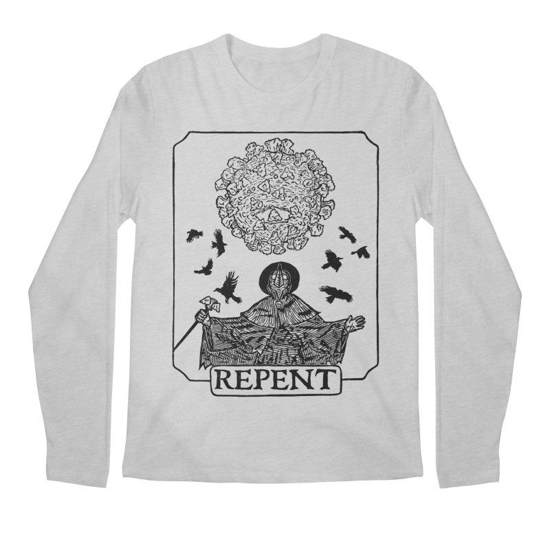Repent Men's Regular Longsleeve T-Shirt by The Corey Press