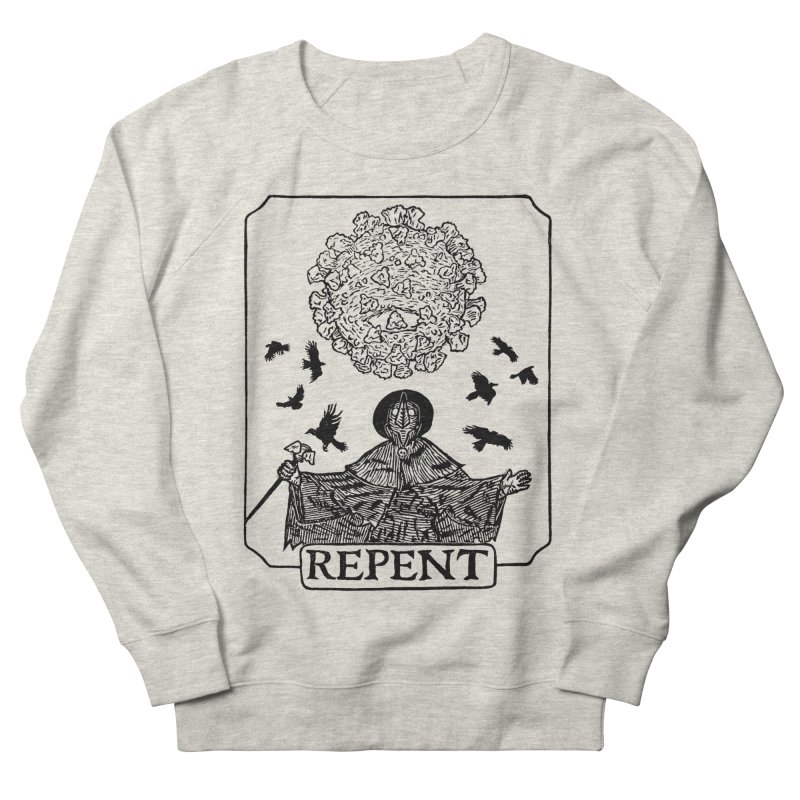 Repent Men's French Terry Sweatshirt by The Corey Press