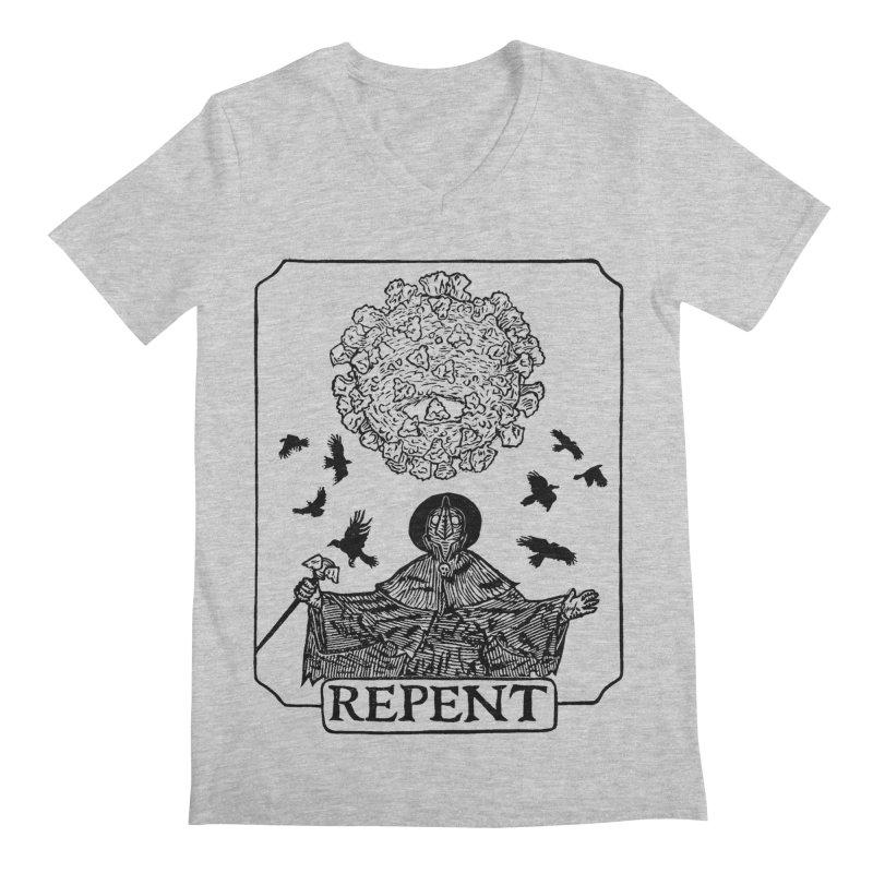 Repent Men's Regular V-Neck by The Corey Press